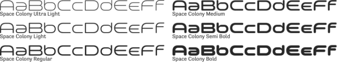 Space Colony Font Preview