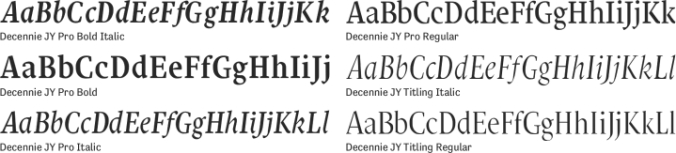 Decennie JY Pro Font Preview