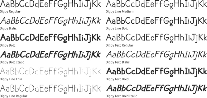 Digby Font Preview