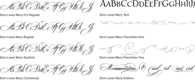 Dom Loves Mary Font Preview