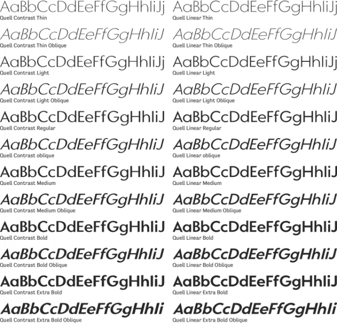 Quell Font Preview
