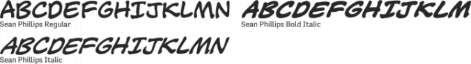 Sean Phillips Font Preview