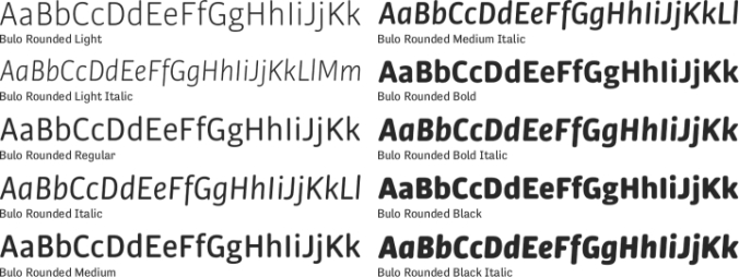 Bulo Rounded Font Preview