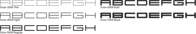 Scion Font Preview