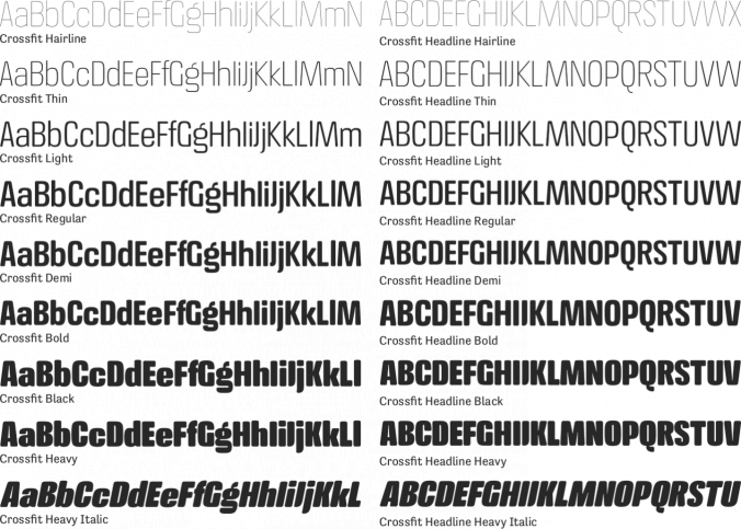Crossfit Font Preview