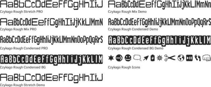 Czykago Rough font download