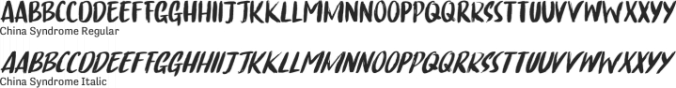 China Syndrome Font Preview