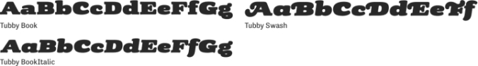 Tubby Font Preview