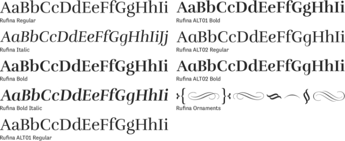 Rufina Font Preview