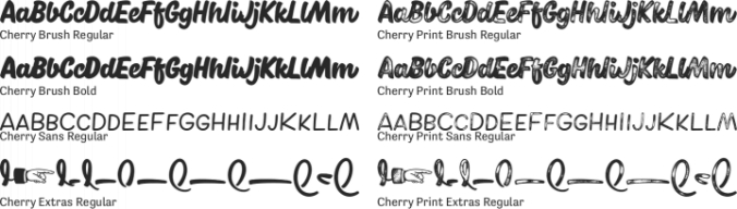 Cherry Font Preview