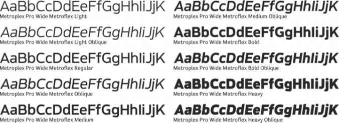 Metroplex Pro Wide Font Preview