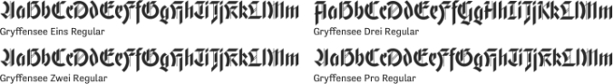 Gryffensee Font Preview