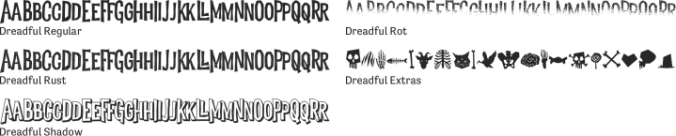 Dreadful font download