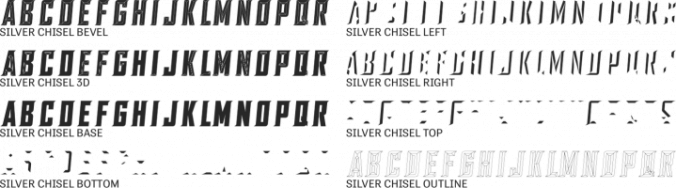SILVER CHISEL Font Preview