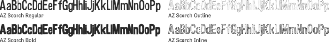 AZ Scorch Font Preview