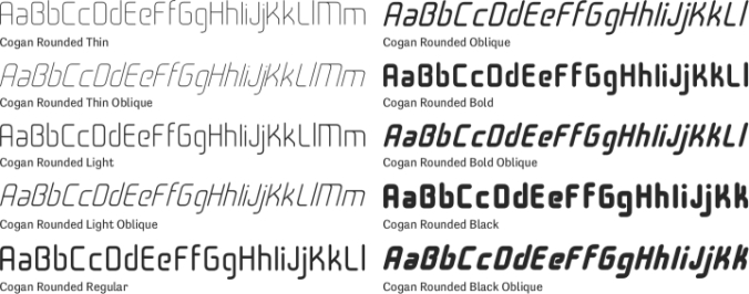 Cogan Rounded Font Preview