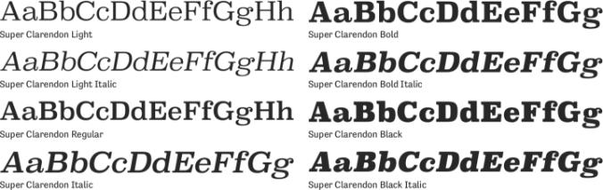 clarendon black font