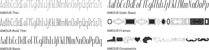AMOUR Font Preview