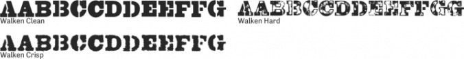 Walken Font Preview