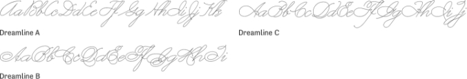 Dreamline Font Preview