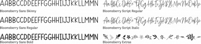 Bloomsberry Font Preview