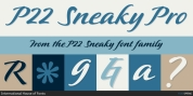 P22 Sneaky font download