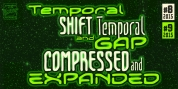 Temporal Gap & Shift Compressed font download