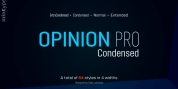Opinion Pro Condensed font download