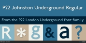 P22 London Underground font download