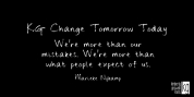 KG Change Tomorrow Today font download