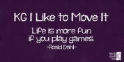 KG I Like To Move It font download