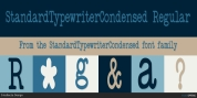 StandardTypewriterCondensed font download