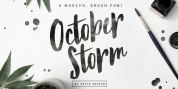 October Storm font download