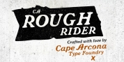 CA Rough Rider font download