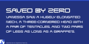 Saved By Zero font download