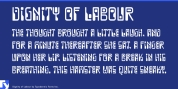Dignity of Labour font download