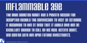Inflammable Age font download