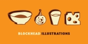 Blockhead Illustrations font download