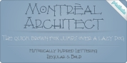 Montreal Architect Px font download