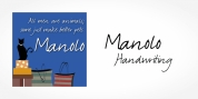 Manolo Handwriting font download