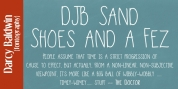 DJB Sand Shoes and a Fez font download