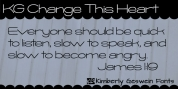 KG Change This Heart font download