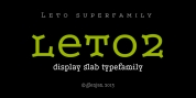 Leto Two font download