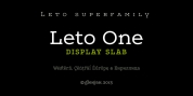 Leto One font download