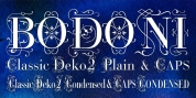 Bodoni Classic Deco Two font download