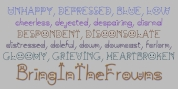 BringInTheFrowns font download