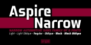 Aspire Narrow font download