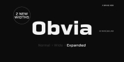Obvia Expanded font download