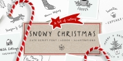Snowy Christmas font download