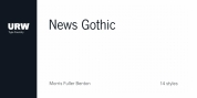 URW News Gothic font download